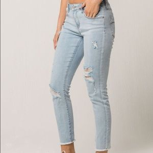 RSQ Distressed Light Wash Skinnies
